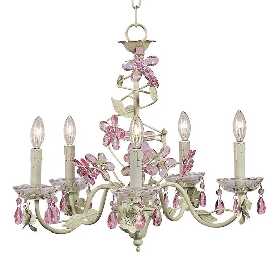 Flower 5-Light Candle Style Chandelier by Jubilee Collection