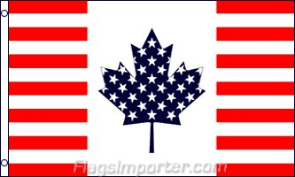 USA Canada Friendship Traditional Flag by Flags Importer