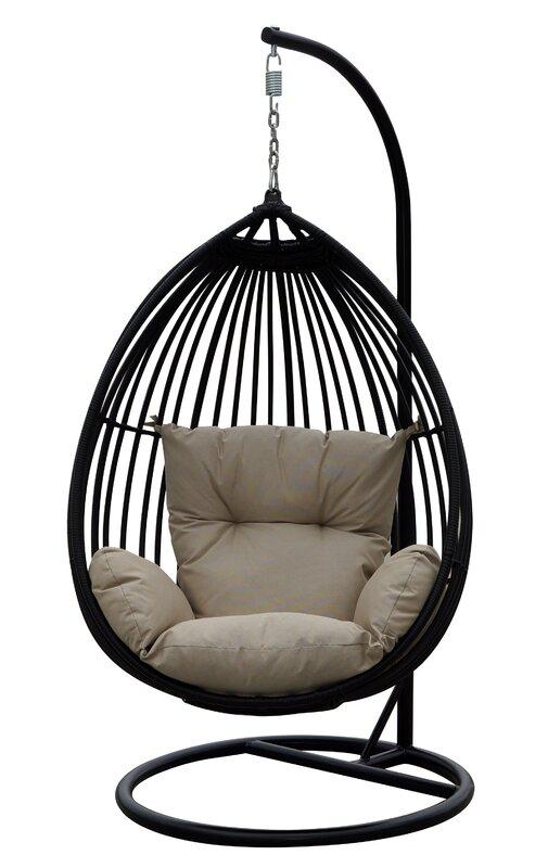 orren ellis audra swing chair with stand & reviews | wayfair