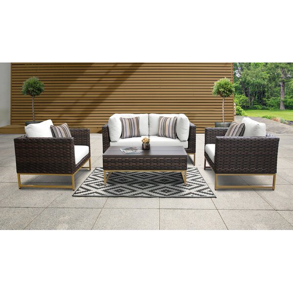 Mcclurg 5 Piece Sectional Seating Group With Cushions By Darby Home Co