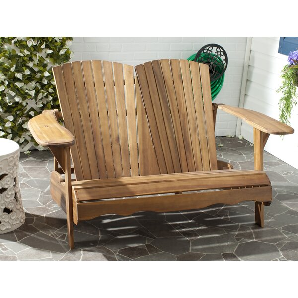 Hartnell Wooden Garden Bench by Rosecliff Heights