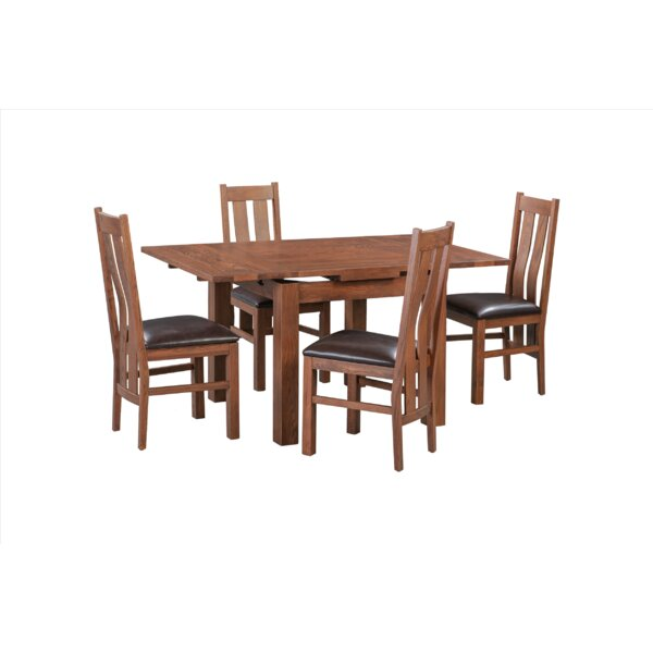 Baxley 5 Piece Solid Wood Extendable Dining Set by Foundry Select Foundry Select