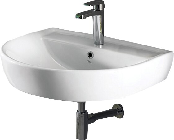 Bella Ceramic 24 Wall Mount Bathroom Sink with Overflow by CeraStyle by Nameeks