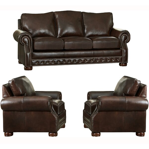 Pelaez 3 Piece Leather Living Room Set By Canora Grey Discount