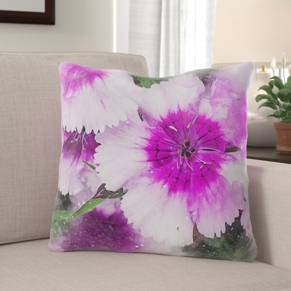 Easterly Flowers Throw Pillow