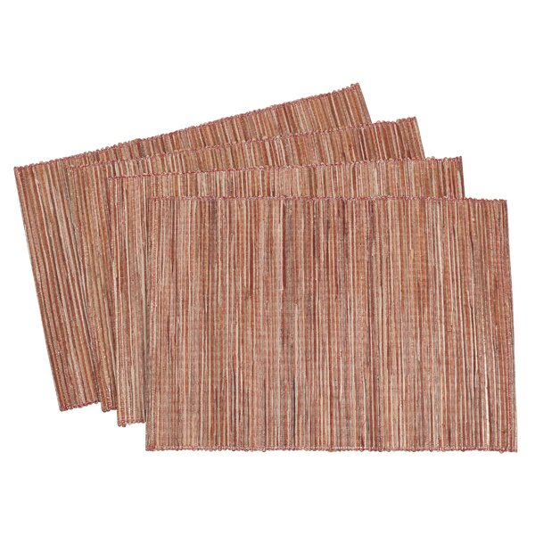 Bevis Shimmering Woven Nubby Texture Placemat (Set of 4) by Union Rustic