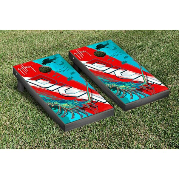 Guy Harvey Lobster Dive Cornhole Game Set by Victory Tailgate