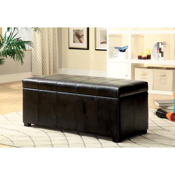 Alberta Leather Storage Bench by Hokku Designs