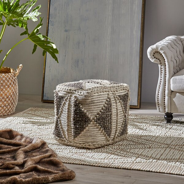 Bellinger Boho Pouf by Bungalow Rose