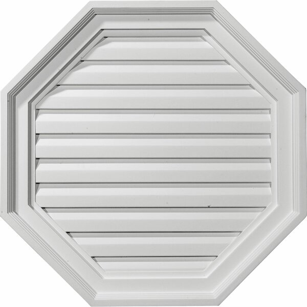 22H x 22W x 2 1/8D Octagon Gable Vent Louver by Ekena Millwork
