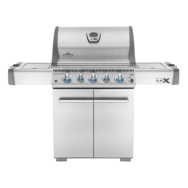 Lex Cart 6-Burner Propane Gas Grill with Cabinet by Napoleon