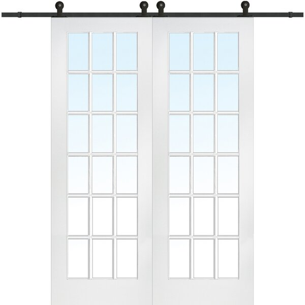 MDF 2-Panel Primed Interior Barn Door by Verona Home Design
