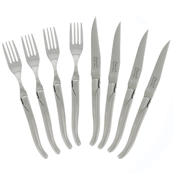 Linch Stainless Steel 8-Piece Flatware Set by Latitude Run