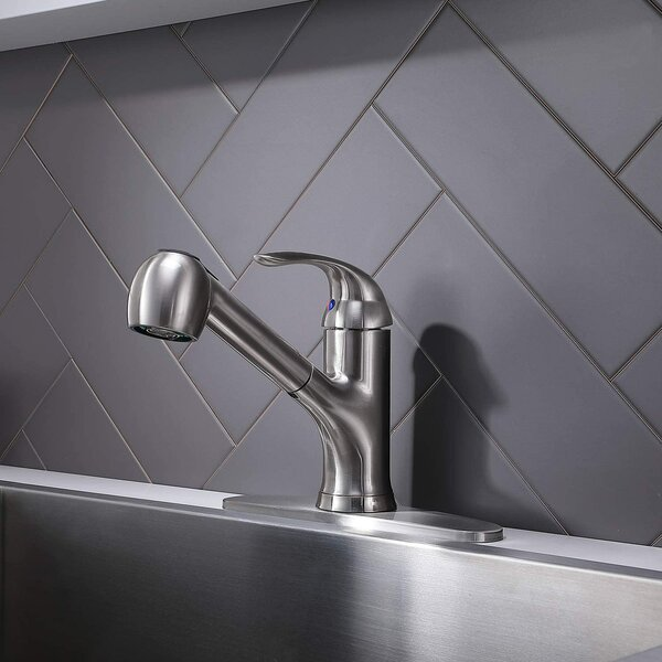 Pull Out Single Handle Kitchen Faucet by VCCUCINE VCCUCINE