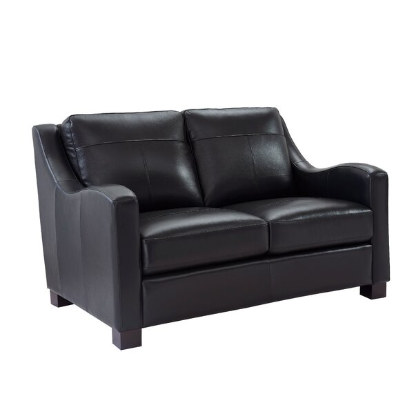 Arlford Leather Loveseat by Latitude Run