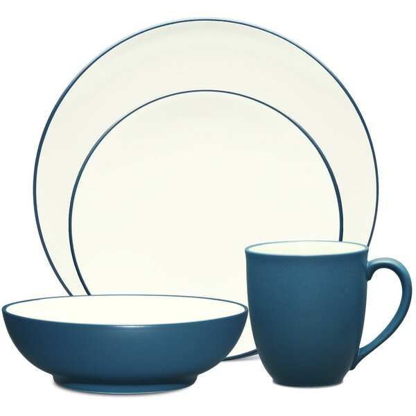 Colorwave Coupe 4 Piece Place Setting, Service for 1 by Noritake