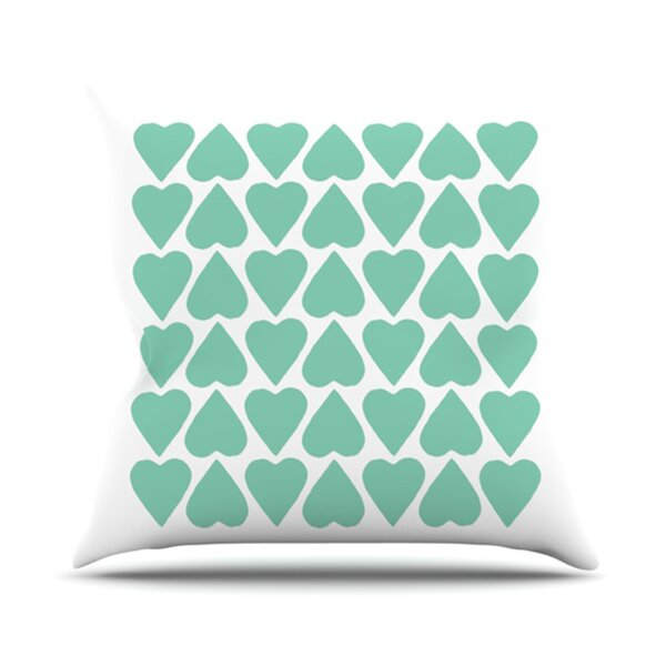 Up and Down Hearts Throw Pillow by KESS InHouse