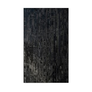 Price Check Archer Hand-Woven Cowhide Black Area Rug By17 Stories