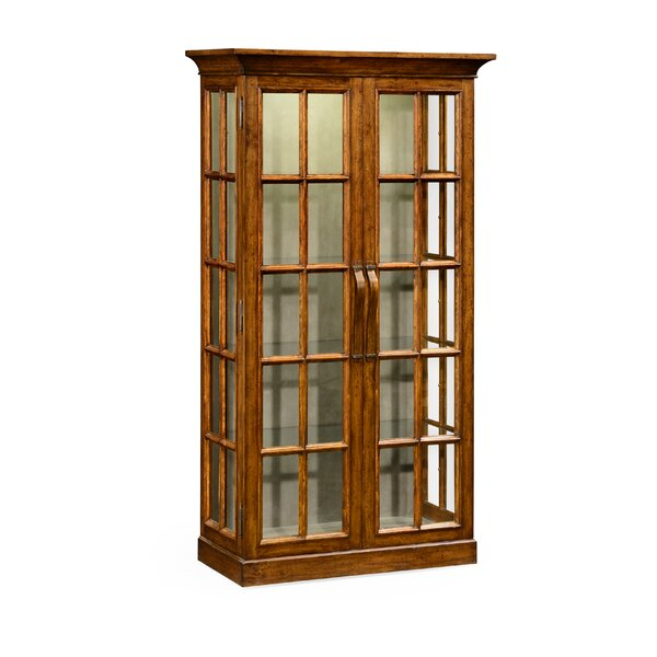 Plank Fully Glazed Lighted Curio Cabinet by Jonathan Charles Fine Furniture