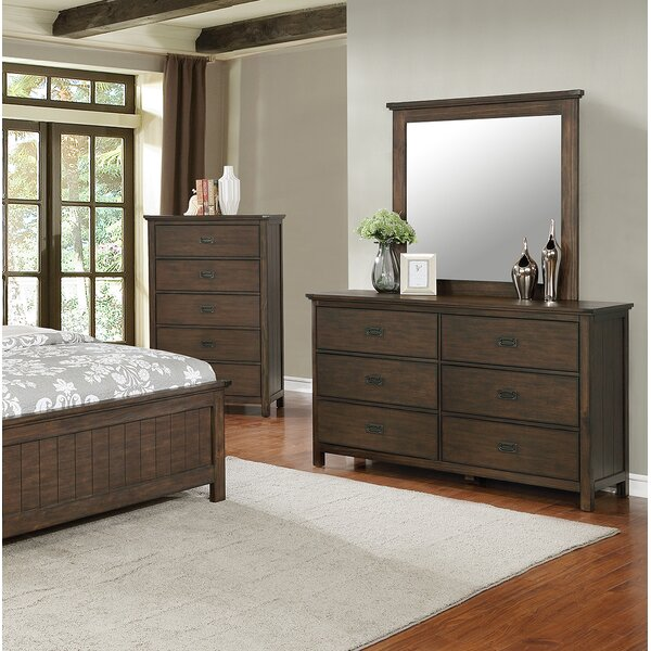Check Price Bodmin 6 Drawer Double Dresser With Mirror