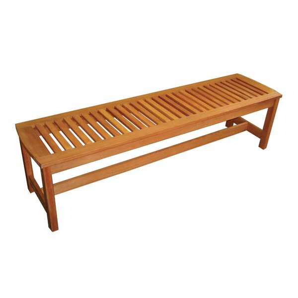 Serenity Backless Wood Picnic Bench by Arboria