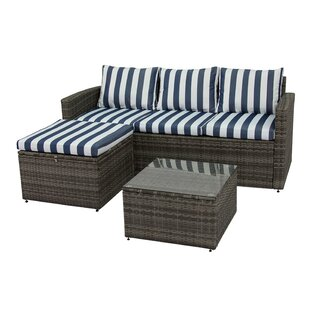 Ridgemoor 3 Piece Sofa Set With Cushions