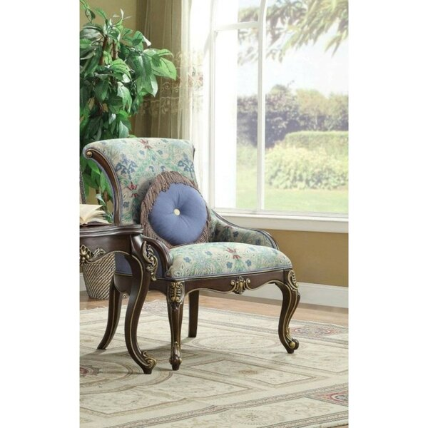 Swafford Wooden Side Chair with Pillow by Astoria Grand