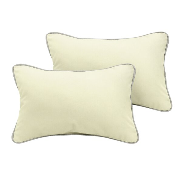 Cheval Sunbrella Outdoor Lumbar Pillow (Set of 2) by Rosecliff Heights