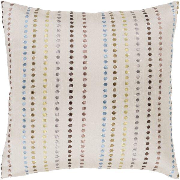 Dots Camel Modern Throw Pillow by Surya