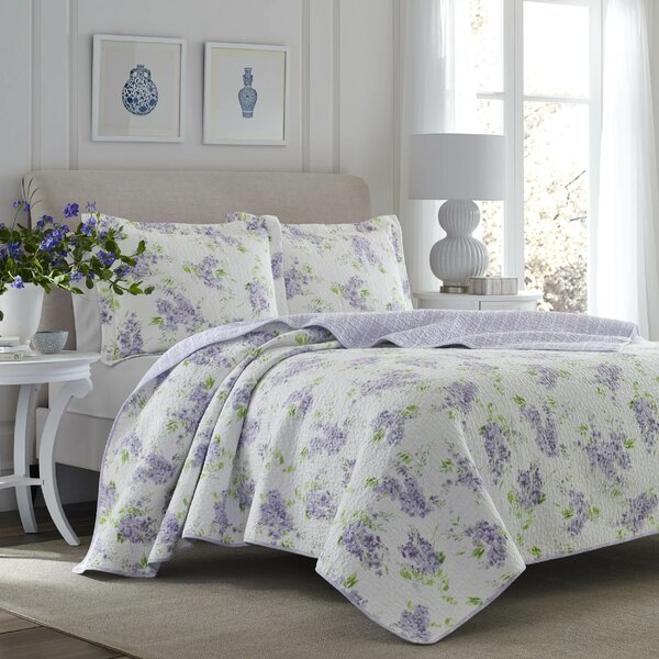 Keighley Cotton Reversible Quilt Set by Laura Ashl
