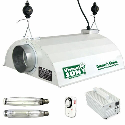 1000 Watt Grow Light Hood Reflector with Magnetic Ballast Kit by Virtual Sun