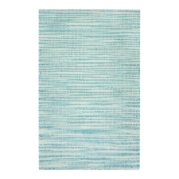 Flatweave Hand-Woven Green/Ivory Area Rug by Rosecliff Heights