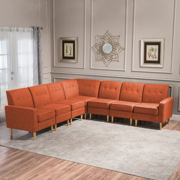 Gatton 7 Piece Mid Century Modular Sectional by Ivy Bronx