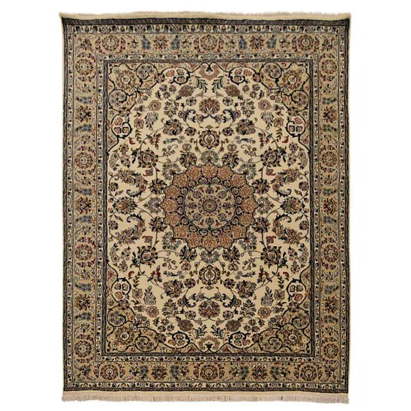 Shephard Hand-Knotted Wool Cream Area Rug by Astoria Grand