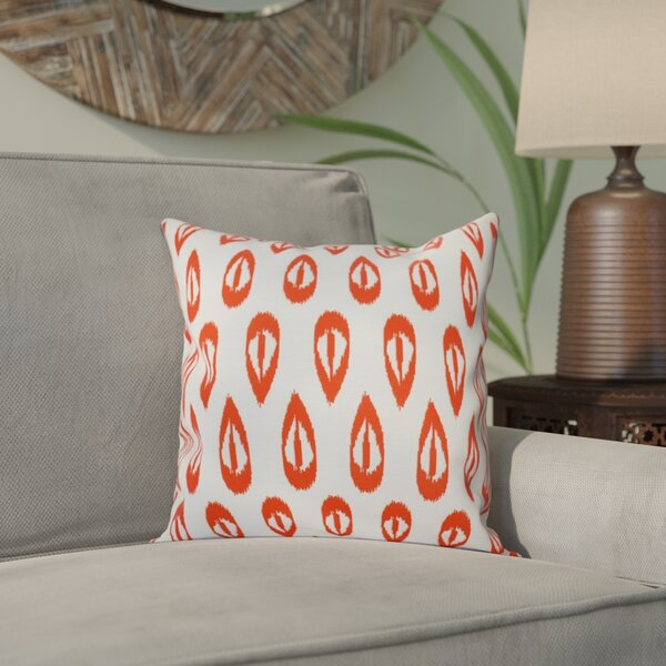 Sabrina Tears Geometric Print Throw Pillow by Bungalow Rose
