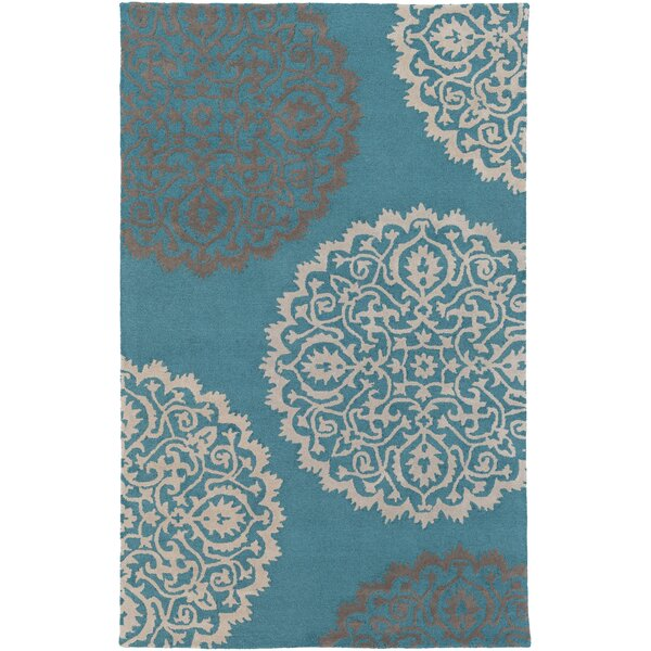 Couture Hand Tufted Teal Area Rug by Red Barrel Studio