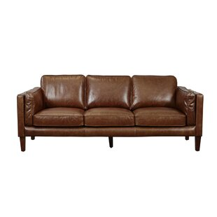 Shelli Leather Sofa by Union Rustic