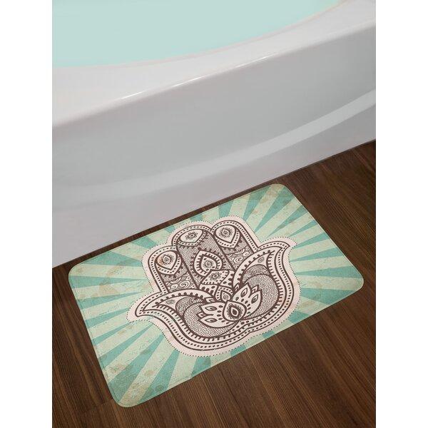 Middle Eastern Mandala Bath Rug by East Urban Home