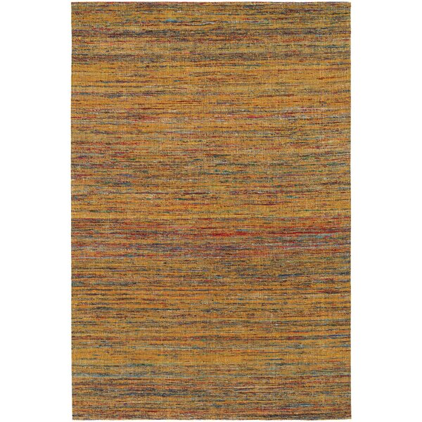 Cabarley Dhurrie Gold Area Rug by Latitude Run