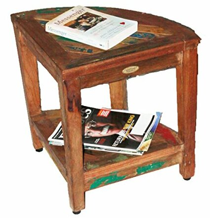 Ecodecors oasis recycled reclaimed salvaged boat wood corner table oasis recycled reclaimed salvaged boat wood corner table bench watchthetrailerfo