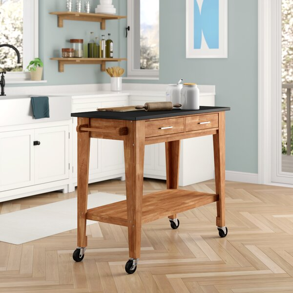 Valora Kitchen Cart with Granite Top by Latitude Run