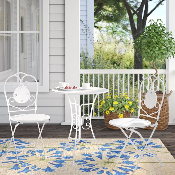 Kincade 3 Piece Outdoor Bistro Set by Ophelia & Co.