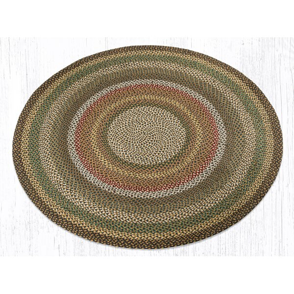 Round Braided Fir/Ivory Area Rug by Earth Rugs