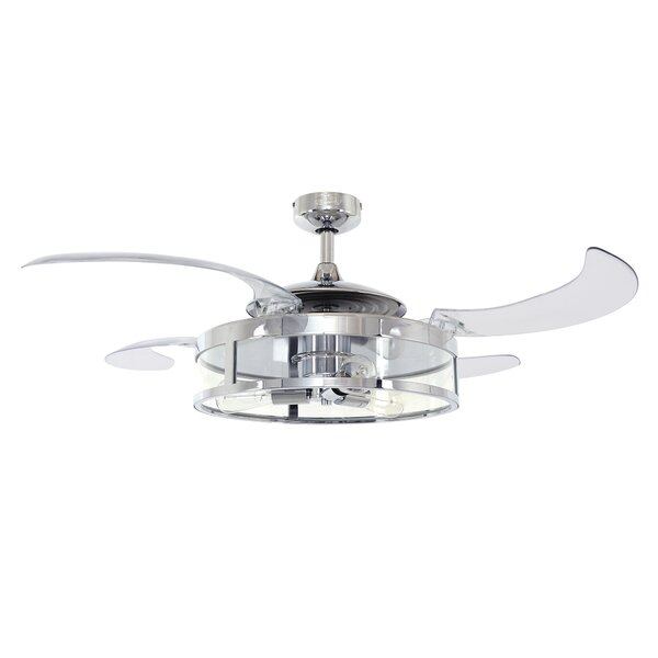 48 Servantes 4 Blade Ceiling Fan with Remote by Orren Ellis