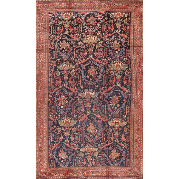 Hand Knotted Wool Red/Blue Rug