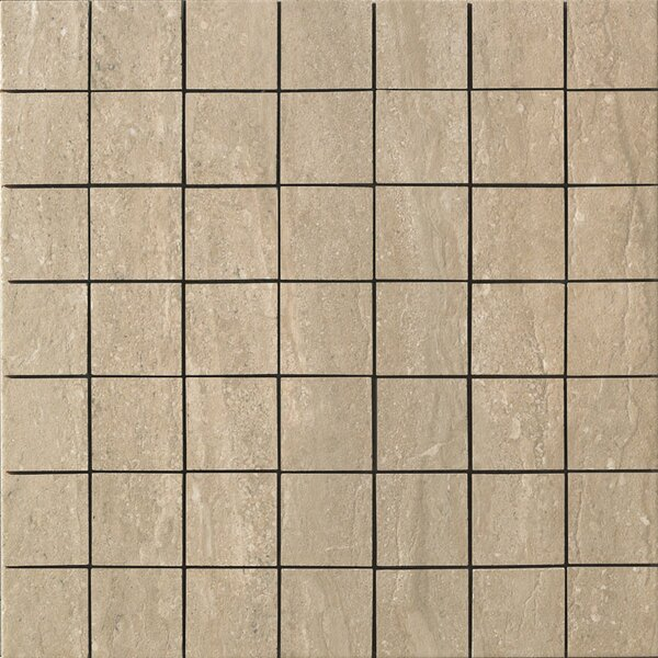 Travertini Porcelain Mosaic Tile in Walnut by Samson