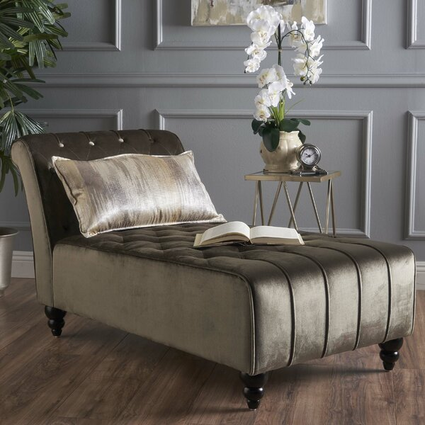 Andrews New Velvet Chaise Lounge by Mercer41