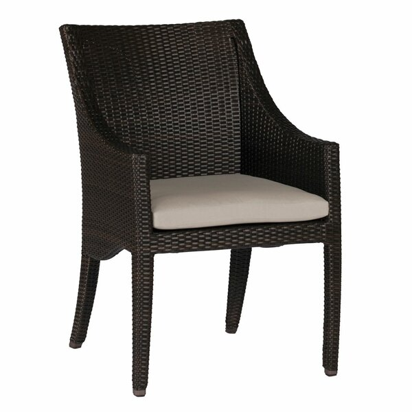 Athena Patio Dining Arm Chair with Cushion by Summer Classics