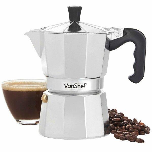 Italian Espresso 3-Cup Coffee & Espresso Maker by VonShef
