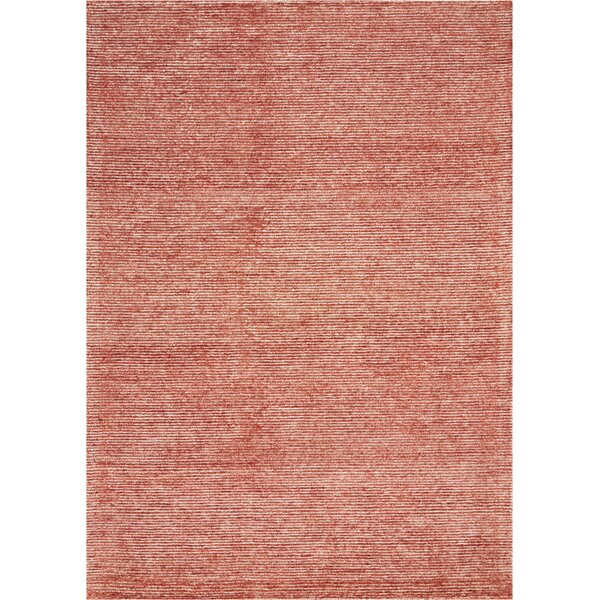 Romans Solid Hand-Tufted Brick Area Rug by Highland Dunes